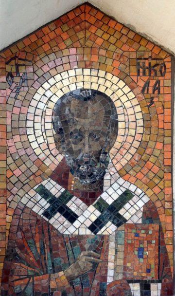 Мозаичная икона свт. Николая Мирликийского
